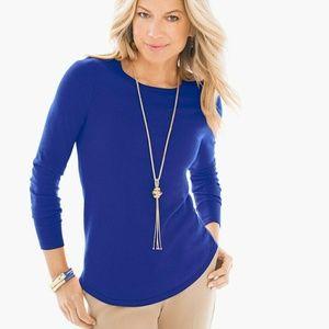 Chico's Zip Back Mindy Pullover Sweater- Medium